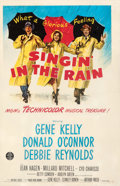 Movie Posters:Musical, Singin' in the Rain (MGM, 1952). Fine+ on Linen. O...