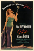 "Movie Posters:Film Noir, Gilda (Columbia, 1946). Fine- on Linen. One Sheet (27"" X 41"") Style B.. ..."