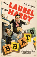 """Movie Posters:Comedy, Brats (MGM, 1930). Folded, Very Fine. One Sheet (27"""" X 41"""").. ..."""