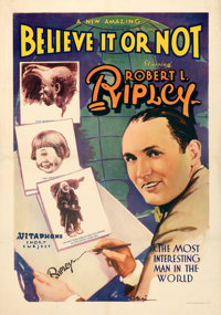 """Believe It or Not - No. 2 (Vitaphone, 1930). Very Fine on Linen. One Sheet (27"""" X 41"""")"""