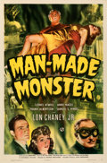 """Movie Posters:Horror, Man-Made Monster (Universal, 1941). Folded, Very Fine/Near Mint. One Sheet (27"""" X 41"""").. ..."""