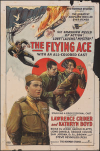 """The Flying Ace (Norman, 1926). Folded, Overall: Very Good. One Sheet (27"""" X 41"""") & Heralds (2) (4.5""""..."""