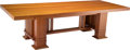 Furniture, A Frank Lloyd Wright-Style Dining Table, 20th century. 27-5/8 x 101-1/2 x 41-5/8 inches (70.2 x 257.8 x 105.7 cm). PROPERT...