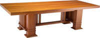 A Frank Lloyd Wright-Style Dining Table, 20th century 27-5/8 x 101-1/2 x 41-5/8 inches (70.2 x 257.8 x 105.7 cm)