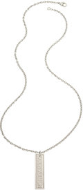 Estate Jewelry:Necklaces, White Gold Pendant-Necklace, Louis Vuitton, French . ...