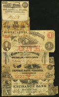 Obsoletes By State:South Carolina, A Half Dozen Well Used Obsolete Notes from South Carolina and Virginia. . ... (Total: 6 notes)