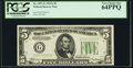 Small Size:Federal Reserve Notes, Fr. 1957-G $5 1934A Federal Reserve Note. PCGS Very Choice New 64PPQ.. ...