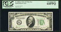 Small Size:Federal Reserve Notes, Fr. 2008-K $10 1934C Wide Federal Reserve Note. PCGS Very Choice New 64PPQ.. ...