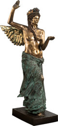 Sculpture, Audrey Flack (b. 1931). Islandia, Goddess of the Healing Waters, 1988. Gilded bronze with patina. 66-1/2 x 26 x 38 inche...