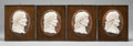 Decorative Accessories, Four Italian Carved Marble Framed Portrait Plaques of Emperors in Profile, late 19th century. 16-3/4 x 13 inches (42.5 x 33.... (Total: 4 Items)