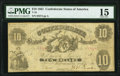Confederate Notes:1861 Issues, T10 $10 1861 PF-16 Cr. 36 PMG Choice Fine 15.. ...