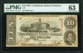 Confederate Notes:1863 Issues, T59 $10 1863 PF-11 Cr. 429 PMG Choice Uncirculated 63.. ...