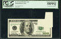 Pre-Face Print Foldover Error Fr. 2175-B $100 1996 Federal Reserve Note. PCGS Choice About New 58PPQ