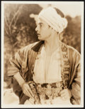 """Movie Posters:Adventure, Rudolph Valentino in Son of the Sheik (United Artists, 1926). Very Fine. Portrait Photo (10.75"""" X 13.75""""). Adventure.. ..."""