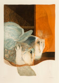 Prints & Multiples, Alvar Suñol (b. 1935). Untitled, late 20th century. Lithograph in colors with embossing on wove paper. 24-1/2 x 17-3/4 i...