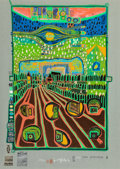 Prints & Multiples, Friedensreich Hundertwasser (1928-2000). Street for Survivors, from Look At It on a Rainy Day, 1971-72. Screenprint ...