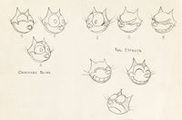 Neptune Nonsense Felix the Cat Model Sheet Original Art (Van Buren Studio, 1936)