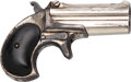 Handguns:Derringer, Palm, Remington Over & Under Type II Model No. 3 Deringer.. ...
