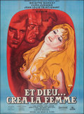 """Movie Posters:Foreign, And God Created Woman (Cocinor, R-1964). Folded, Very Fine-. Full-Bleed French Grande (46.25"""" X 62.75"""") Rene Peron Artwork. ..."""