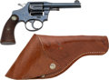 Handguns:Double Action Revolver, American Railway Express Colt Police Positive Double Action Revolver with Leather Holster.. ...