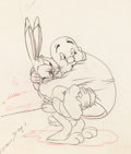 Animation Art:Production Drawing, Wabbit Twouble Bugs Bunny and Elmer Fudd Animation Drawing (Warner Brothers, 1941)....