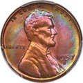1957-D 1C MS66 Red and Brown PCGS. CAC. PCGS Population: (203/8). NGC Census: (207/20). Mintage 1,051,342,000. ...(PCGS#...