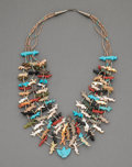 American Indian Art:Jewelry and Silverwork, A Navajo Fetish Necklace...