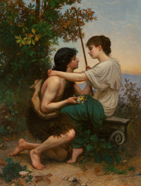 Camille Félix Bellanger (French, 1853-1923) Daphnis and Chloe, 1893 Oil on canvas 57-1/4 x 43-1/4