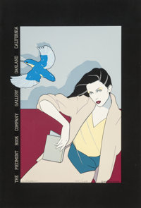 Patrick Nagel (1945-1984) The Piedmont Book Company, 1979 Silkscreen in colors on board 18 x 12 i