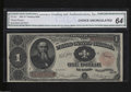 Large Size:Treasury Notes, Fr. 351 $1 1891 Treasury Note Choice Uncirculated 64. This ...