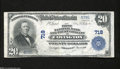 National Bank Notes:Kentucky, Covington, KY - $20 1902 Plain Back Fr. 650 The First NB