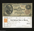 National Bank Notes:Pennsylvania, Warren, PA - $5 1882 Brown Back Fr. 467 The First NB ... (2 items)