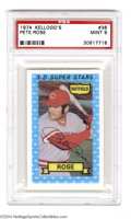 Baseball Cards:Singles (1970-Now), 1974 KELLOGG'S PETE ROSE #38 Mint PSA 9. For 14 years in ...