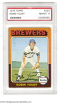 Baseball Cards:Singles (1970-Now), 1975 TOPPS ROBIN YOUNT #223 NM/MT PSA 8. The 1975 Topps ...