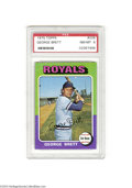 Baseball Cards:Singles (1970-Now), Baseball 1975 TOPPS GEORGE BRETT #228 NM/MT PSA 8. The ...