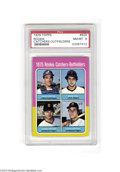 Baseball Cards:Singles (1970-Now), 1975 TOPPS ROOKIE CATCHERS- #620 OUTFIELDERS NM/MT PSA 8. ...