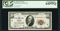 Low Serial Number Fr. 1860-G $10 1929 Federal Reserve Bank Note. PCGS Very Choice New 64PPQ