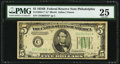Fr. 1958-C* $5 1934B Federal Reserve Note. PMG Very Fine 25