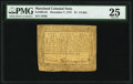 Colonial Notes:Maryland, Maryland December 7, 1775 $1 1/3 PMG Very Fine 25.. ...