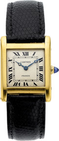 Estate Jewelry:Watches, Lady's Cartier Gold Tank Watch, French. ...