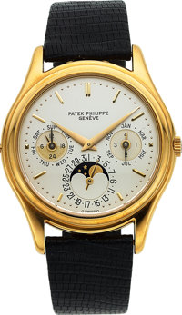 Patek Philippe, Very Fine 1st Series Ref. 3940J, 18k Gold Perpetual Calendar with Moon Phase, Circa 1986