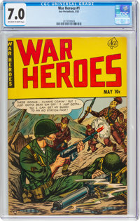 War Heroes (Ace) #1 (Ace, 1952) CGC FN/VF 7.0 Off-white to white pages