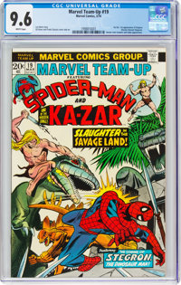 Marvel Team-Up #19 Spider-Man and Ka-Zar (Marvel, 1974) CGC NM+ 9.6 White pages