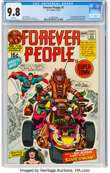 The Forever People #1 (DC, 1971) CGC NM/MT 9.8 White pages....