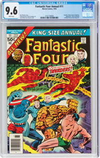 Fantastic Four Annual #11 (Marvel, 1976) CGC NM+ 9.6 White pages