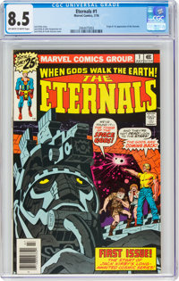 The Eternals #1 (Marvel, 1976) CGC VF+ 8.5 Off-white to white pages