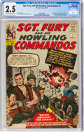 Silver Age (1956-1969):War, Sgt. Fury and His Howling Commandos #1 (Marvel, 1963) CGC GD+ 2.5 Off-white to white pages....