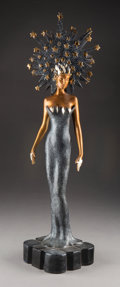 Sculpture, Erté (Romain de Tirtoff) (Russian/French, 1892-1990). Starstruck, 1987. Cold painted bronze. 22-3/8 ...