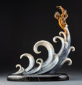 Metalwork, Erté (Romain de Tirtoff) (Russian/French, 1892-1990). The Wave, circa 1988. Cold painted bronze. 17 inches (43.2 cm). Ed...