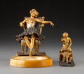 Metalwork, Attributed to Franz Xaver Bergmann (Austrian, 1861-1936). Group of Three Erotic Figures, circa 1910. Cold painted bronze... (Total: 3 Items)